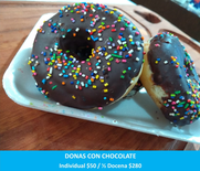 Donas Con Chocolate