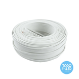 Cable Paralelo Bipolar Blanco 2 X 1,5 Mm X 100 Mts