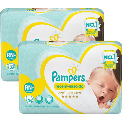 PAMPERS PREMIUM CARE RECIÉN NACIDO RNX36 (hasta 6kg)