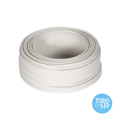 Cable Paralelo Bipolar blanco 2 x 0,75mm x 100 mts