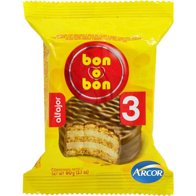 Alfajor Triple Bon o Bon.