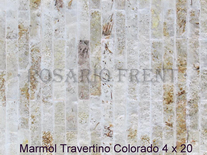 Mármol Travertino Colorado De 4cm X 20cm