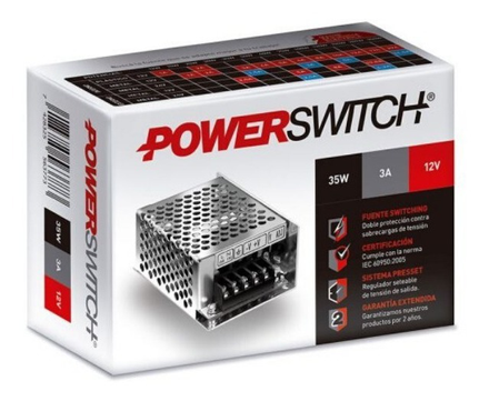Fuente Switching 110-220 / 12 Vdc 3a POWERSWITCH