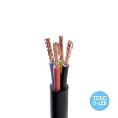 Cable Envainado Redondo tipo TPR 4x1mm X 100mts