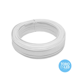 Cable Paralelo Bipolar Blanco 2 X 1 Mm X 100 Mts