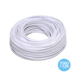 Cable Paralelo Bipolar Blanco 2 X 0,50mm X 100 Mts