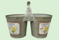 Balde Doble Con Manija Garden Bulbs
