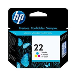 Cartucho De Tinta Original Hp 22 Tricolor