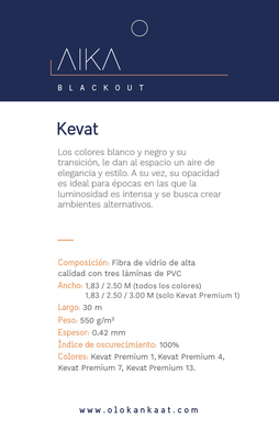 Black Out Premium KEVAT 1 (ancho 1,83 mts) Blanco OLO
