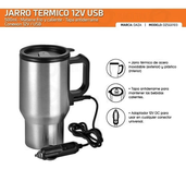 Vaso Termico Acero Inoxidable Daza Usb 5v 12v 450ml