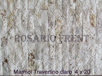 Mármol Travertino Claro De 4cm X 20cm
