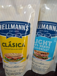 Mayonesa Hellmans / Hellmans Light