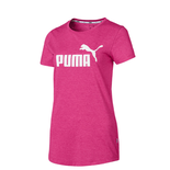 Remera Puma Ess+ Logo Heather Tee