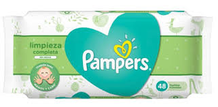Toallitas Humedas Pampers Limpieza Completa  Sin Aroma X 48
