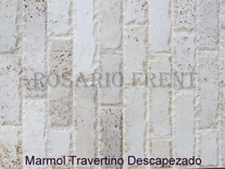 Mármol Travertino Descapezado De 7cm X Largo Libre Pared